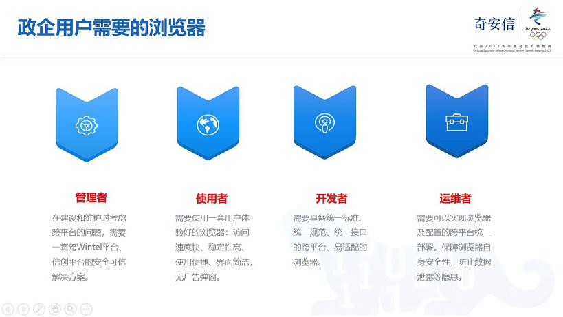 《奇安信发布可信浏览器  四大优势解决政企业务四大痛点》